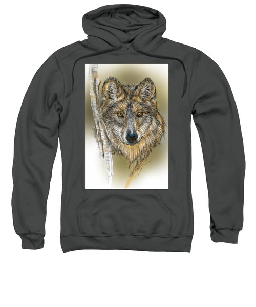 Dark Wolf With Birch Sweatshirt