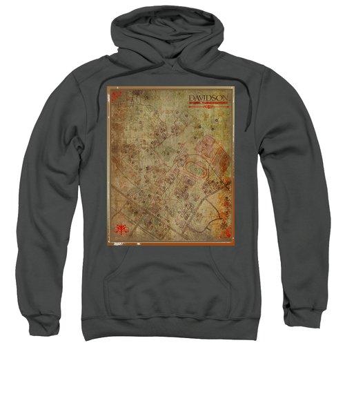 Davidson College Map Sweatshirt