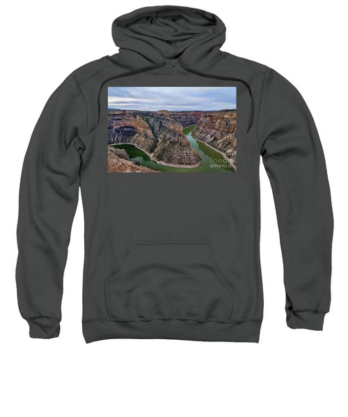 Dawn At Devils Overlook Bighorn Canyon Sweatshirt