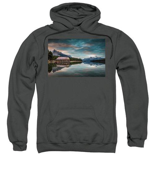 Dawn At Maligne Lake Sweatshirt