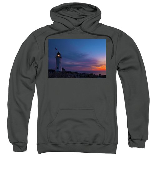 Dawn At Scituate Light Sweatshirt