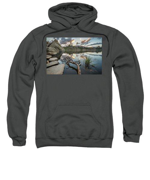 Sweatshirt featuring the photograph Dawn At Sylvan Lake by Adam Romanowicz