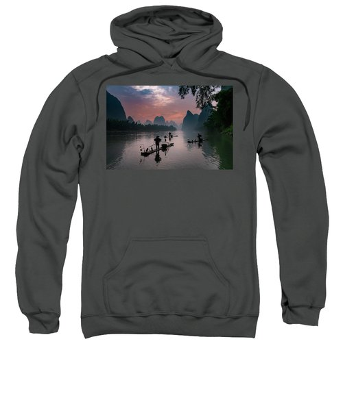 Waiting For Sunrise On Lee River. Sweatshirt