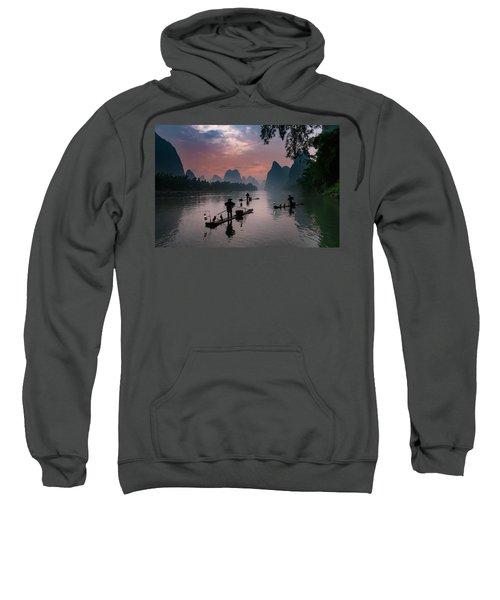 Waiting For Sunrise On Lee River. Sweatshirt