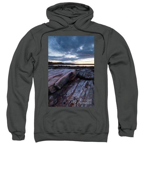 Dawn On The Shore In Southwest Harbor, Maine  #40140-40142 Sweatshirt