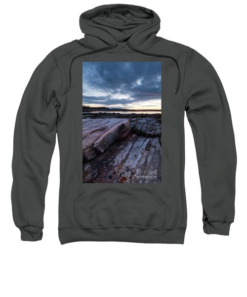 Dawn On The Shore In Southwest Harbor, Maine  #40140-40142 Sweatshirt