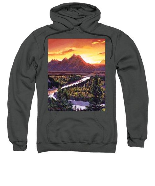 Dawn Over The Grand Tetons Sweatshirt