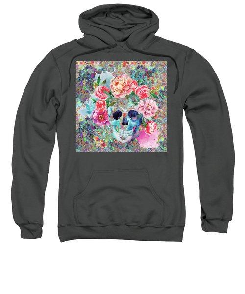 Day Of The Dead Watercolor Sweatshirt