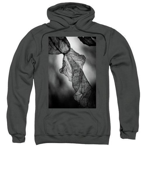 Fragile Leaf Bw Sweatshirt