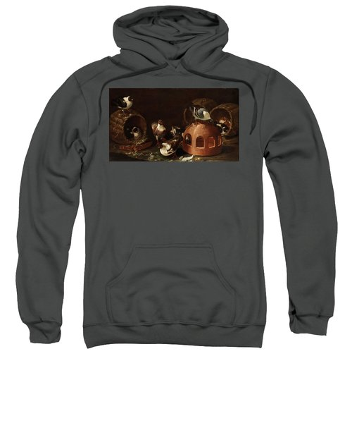 Deaf Between Feed Trough And Baskets Sweatshirt