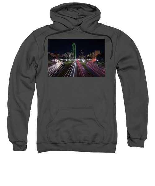 Dealey Plaza Dallas At Night Sweatshirt