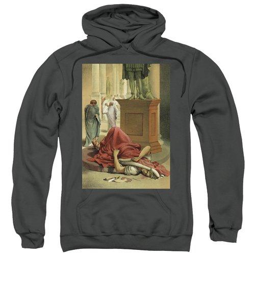 Death Of Julius Caesar, Rome, 44 Bc  Sweatshirt