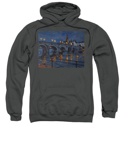 December Lights Old Bridge Maastricht Acryl Sweatshirt