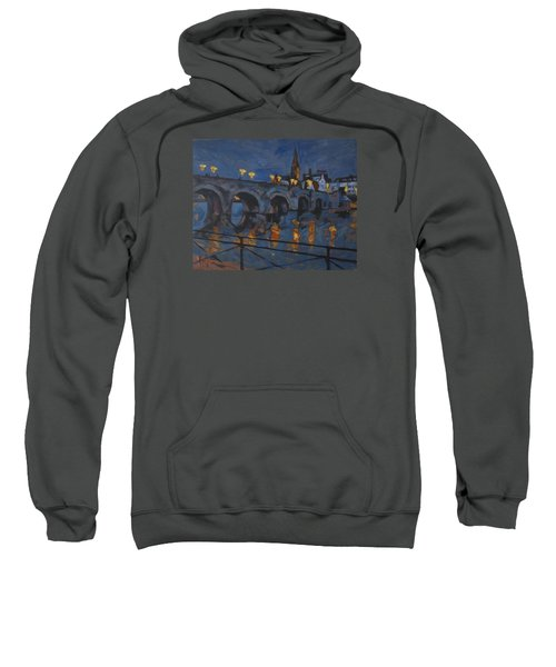 December Lights Old Bridge Maastricht Acryl Sweatshirt