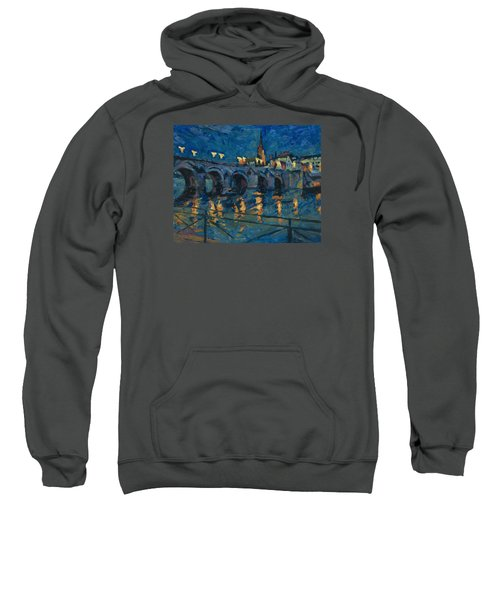December Lights Old Bridge Maastricht Sweatshirt