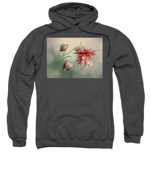 Delicate Red Columbine Sweatshirt