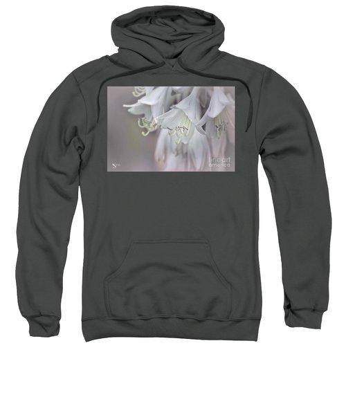 Delicate White Flowers Sweatshirt