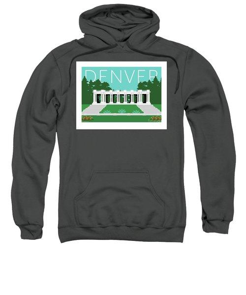 Sweatshirt featuring the digital art Denver Cheesman Park/lt Blue by Sam Brennan