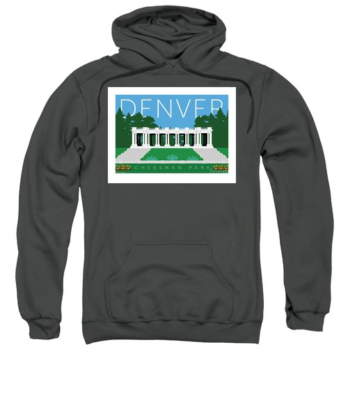 Sweatshirt featuring the digital art Denver Cheesman Park by Sam Brennan