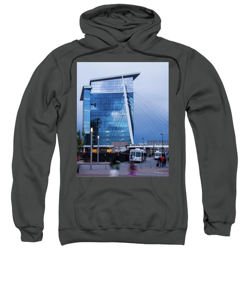Denver Union Station And Milennium Bridge Sweatshirt