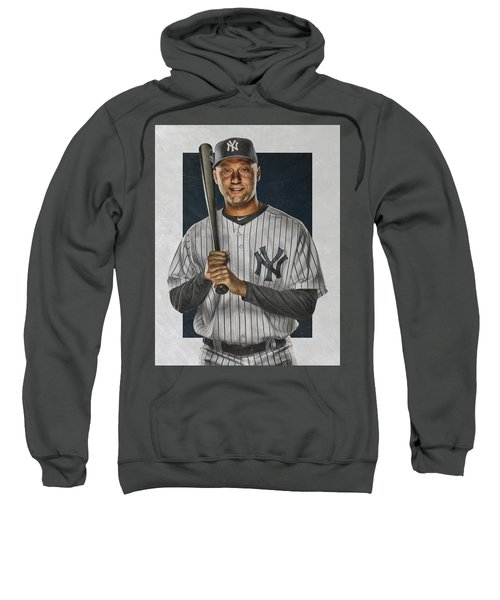 Derek Jeter New York Yankees Art Sweatshirt by Joe Hamilton