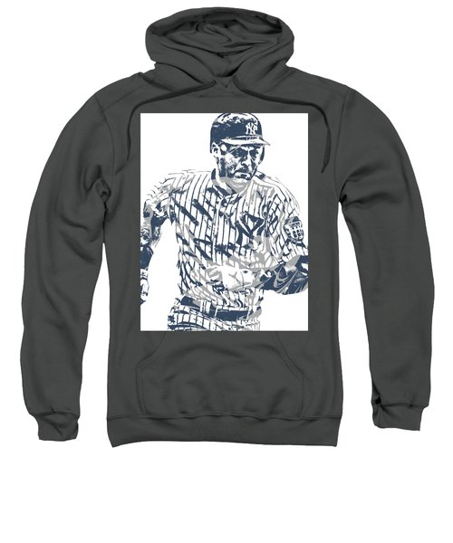 Derek Jeter New York Yankees Pixel Art 12 Sweatshirt