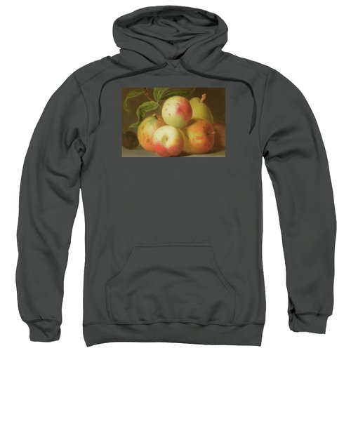 Detail Of Apples On A Shelf Sweatshirt by Jakob Bogdany