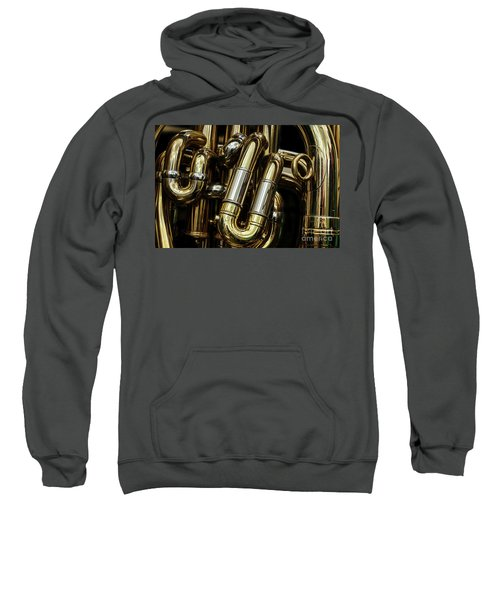 Detail Of The Brass Pipes Of A Tuba Sweatshirt