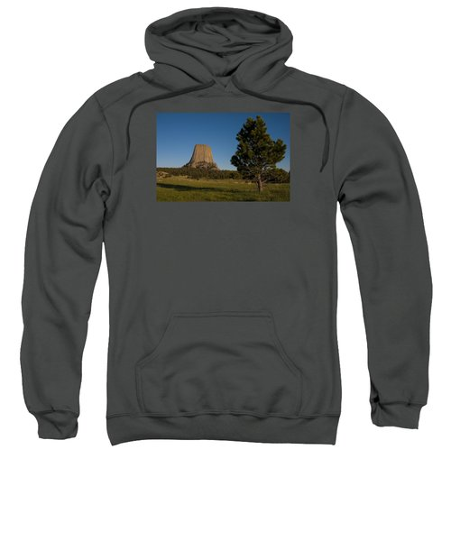 Sweatshirt featuring the photograph Devil's Tower by Gary Lengyel
