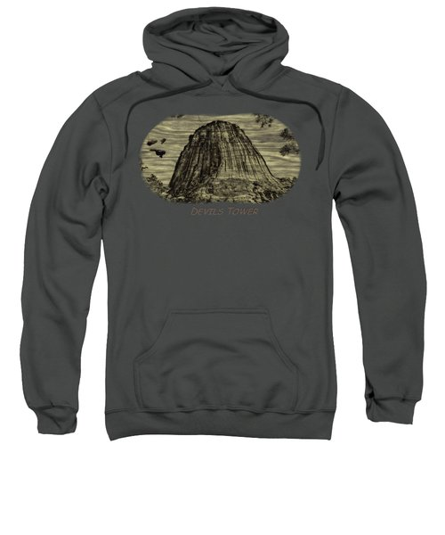 Devils Tower Woodburning 2 Sweatshirt