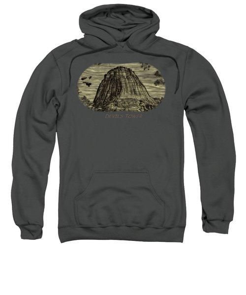 Devils Tower Woodburning 2 Sweatshirt