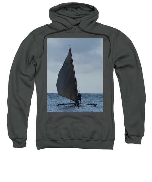 Dhow Wooden Boats In Sail Sweatshirt