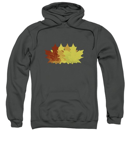 Diagonal Leaf Pattern Sweatshirt