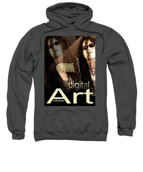 Digital Art Poster Sweatshirt