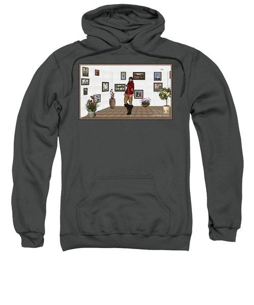 digital exhibition 32  posing  Girl 31  Sweatshirt