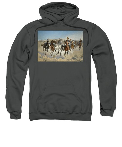 Dismounted The Fourth Troopers Moving The Led Horses Sweatshirt