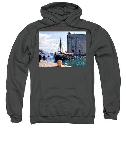 Docking In Dubrovnik Harbour Sweatshirt