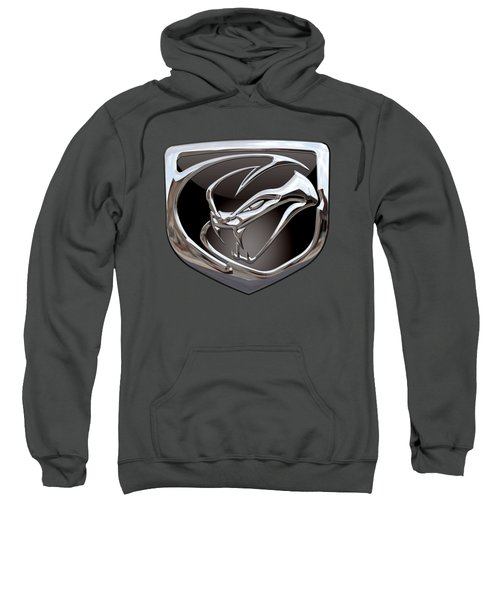 Dodge Viper - 3d Badge On Red Sweatshirt by Serge Averbukh