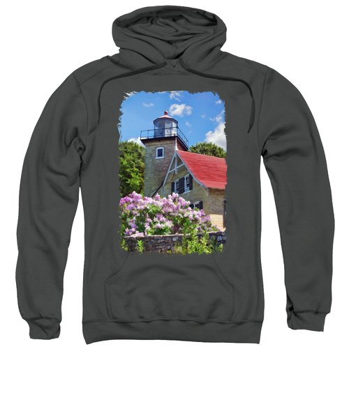 Door County Eagle Bluff Lighthouse Lilacs Sweatshirt