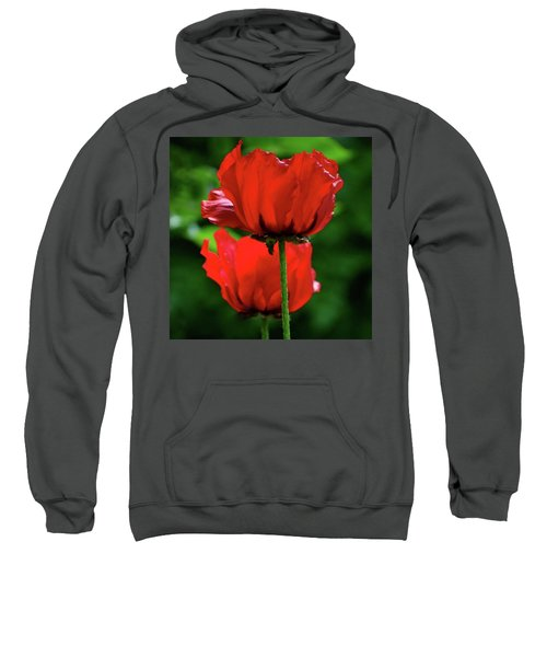 Double Red Poppies Sweatshirt