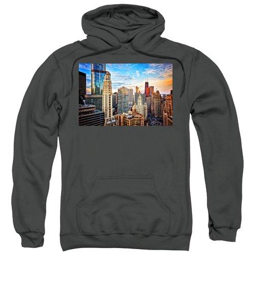 Downtown Chicago Sunset Sweatshirt