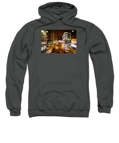 Downtown In The Itty-bitty City Sweatshirt by Randy Scherkenbach