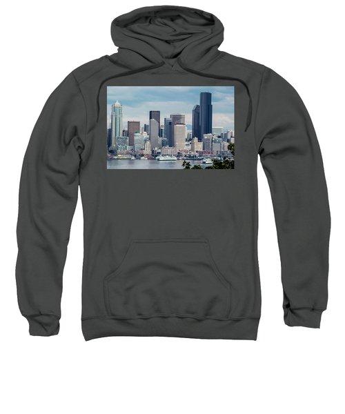 Downtown Seattle And Ferries Sweatshirt