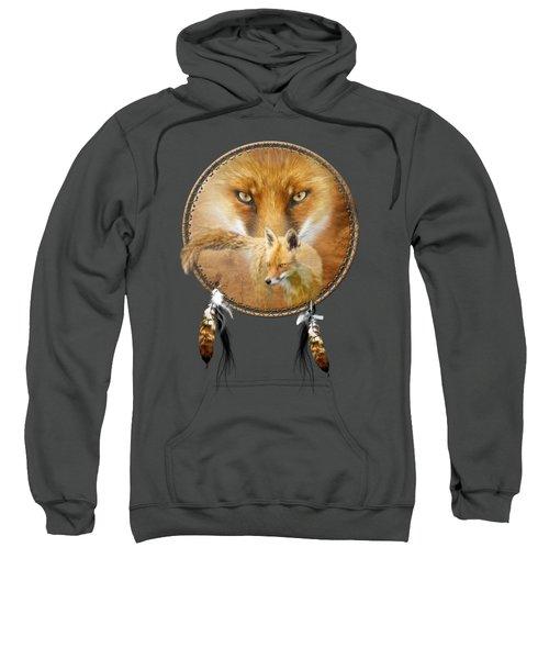 Dream Catcher- Spirit Of The Red Fox Sweatshirt by Carol Cavalaris