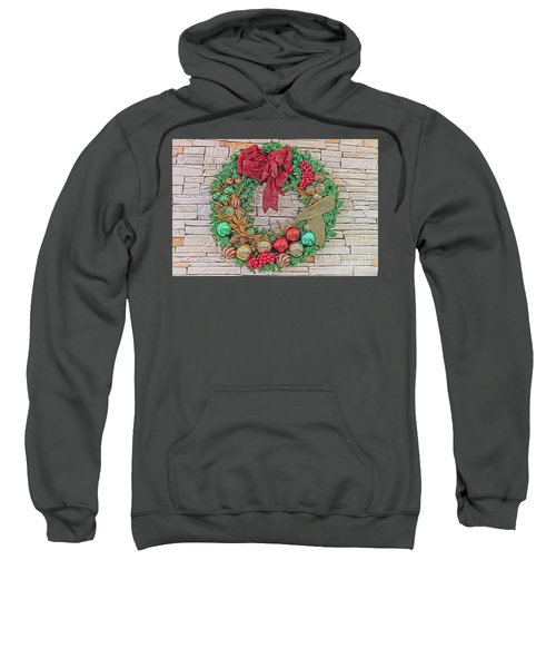 Dreamy Holiday Wreath Sweatshirt