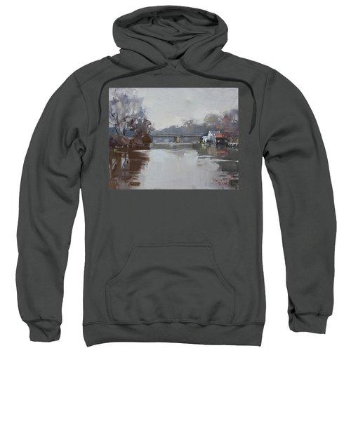 Drizzling At Tonawanda Canal  Sweatshirt