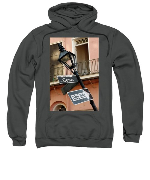 Drunk Street Sign French Quarter Sweatshirt