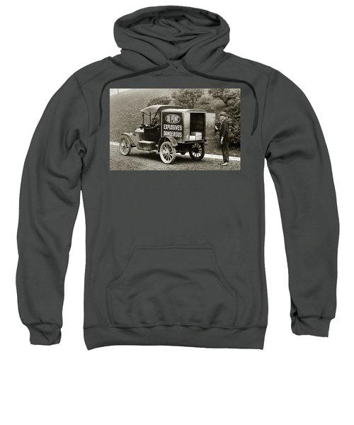 Du Pont Co. Explosives Truck Pennsylvania Coal Fields 1916 Sweatshirt
