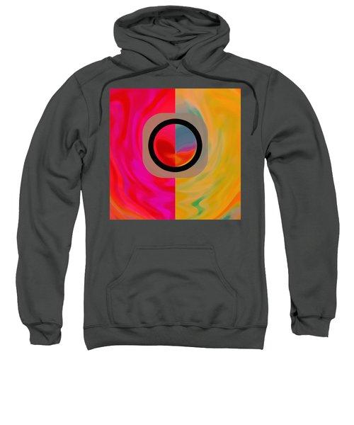 Sweatshirt featuring the digital art Dualism by Mihaela Stancu