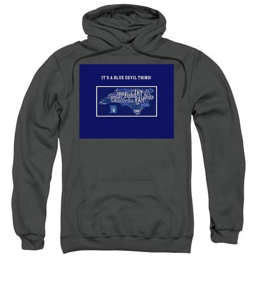 Duke University Blue And White Products Sweatshirt